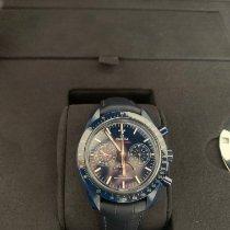 Omega Speedmaster Professional Moonwatch Moonphase Céramique Bleu Sans chiffres