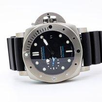 Panerai Luminor Submersible 1950 3 Days Automatic Titanio 47mm Nero Italia, l'aquila