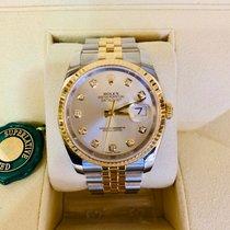 Rolex Datejust Gold/Stahl 36mm Silber