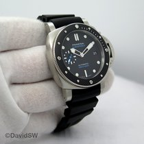 Panerai Luminor Submersible Acero 42mm Negro Sin cifras