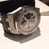 Audemars Piguet Royal Oak Offshore Chronograph Stål 42mm Hvit Arabisk Norge, kristiansand