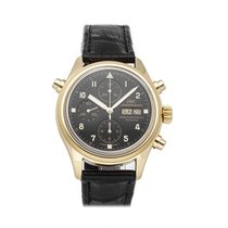 IWC Pilot Double Chronograph Yellow gold 42mm Black Arabic numerals United States of America, Pennsylvania, Bala Cynwyd