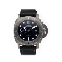 Panerai Luminor Submersible 1950 3 Days Automatic pre-owned 47mm Blue Date Leather