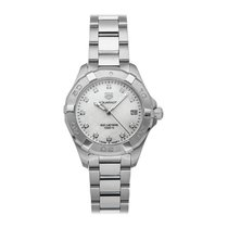 TAG Heuer Aquaracer Lady pre-owned 32mm White Date Fold clasp