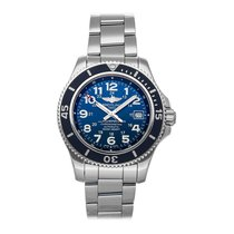 Breitling Superocean II 42 pre-owned 42mm Blue Date Fold clasp