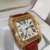 Cartier W20108Y1 Rose gold Santos 100 44mm pre-owned