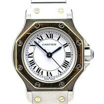 Cartier Damenuhr Santos (submodel) 25mm Automatik gebraucht Uhr mit Original-Box und Original-Papieren 1980