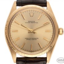 Rolex Oyster Perpetual 34 Or jaune 34mm Champagne