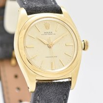 Rolex Yellow gold Automatic Champagne No numerals 32mm pre-owned Bubble Back