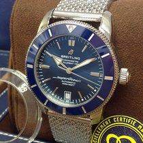 Breitling Superocean Héritage II 42 Stahl 42mm Blau Keine Ziffern