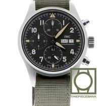 IWC Pilot Spitfire Chronograph Acier 41.1mm Noir Arabes