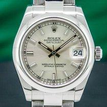 Rolex Lady-Datejust Acier 31mm Argent Romains