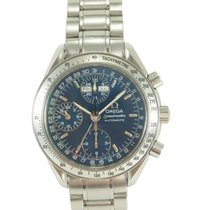 Omega Speedmaster Day Date Stahl 39mm Blau
