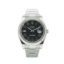 Rolex Datejust II Steel 41mm Grey No numerals