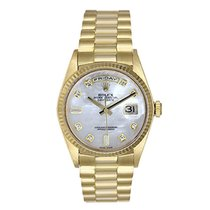 Rolex Yellow gold Automatic Mother of pearl No numerals 36mm pre-owned Day-Date 36