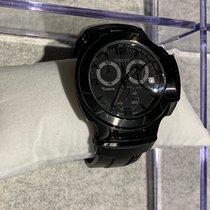 Tissot T-Race rabljen 45mm Crn Kronograf Datum, nadnevak Kaučuk