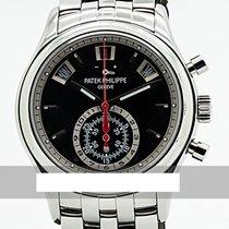 Patek Philippe Annual Calendar Chronograph Acero 40.5mm Negro