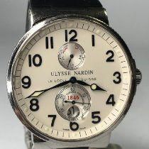 Ulysse Nardin Marine Chronometer 41mm Сталь 41mm Белый Aрабские