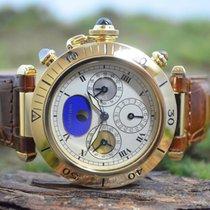 Cartier Pasha neu Quarz Uhr mit Original-Box und Original-Papieren 1989 / Code: 6330