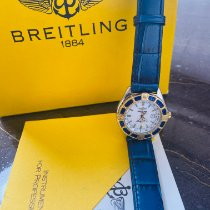 Breitling Lady J Gold/Steel 30mm Blue No numerals