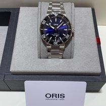Oris Aquis Date Steel 41.5mm Blue No numerals