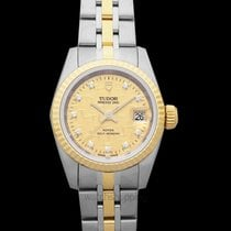 Tudor Yellow gold Automatic Champagne 25mm new Prince Date