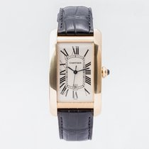 Cartier Tank Américaine pre-owned 27mm White Date Leather