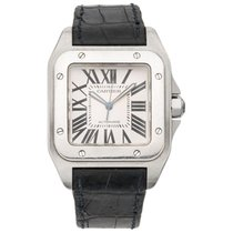 Cartier Santos 100 Steel 41mm White Roman numerals
