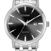 Citizen new Quartz Solar watch 40mm Steel Mineral Glass