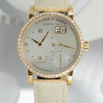 A. Lange & Söhne Little Lange 1 pre-owned 36mm Mother of pearl Date Leather