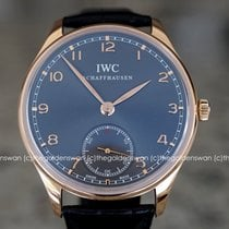 IWC Portuguese Hand-Wound Rose gold 44mm Grey Arabic numerals