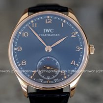 IWC Portuguese Hand-Wound Rose gold 44mm Grey Arabic numerals United States of America, Massachusetts, Milford