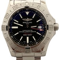 Breitling Avenger II GMT Steel 43mm Black No numerals United States of America, New York, Huntington Village