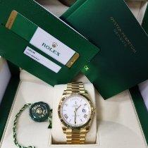 Rolex Day-Date 40 Oro amarillo 40mm Plata