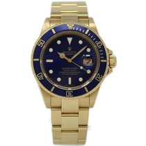 Rolex Submariner Date 16808 Very good Yellow gold 40mm Automatic