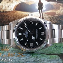 Rolex Explorer Stål 36mm Sort Arabertal