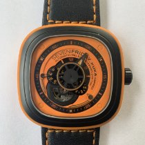 Sevenfriday P1-3 pre-owned 47.6mm Orange Leather