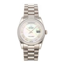 Rolex Day-Date 36 White gold 36mm Pink Roman numerals United States of America, Pennsylvania, Bala Cynwyd