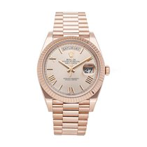 Rolex Day-Date 40 gebraucht 40mm Pink Datum Faltschließe