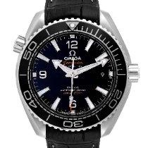 Omega Seamaster Planet Ocean Acero 39.5mm Negro Arábigos