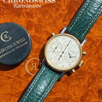 Chronoswiss Chronograph Rattrapante Gold/Steel 38mm Silver Arabic numerals