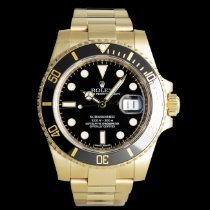 Rolex Submariner Date 116618LN Very good Yellow gold 40mm Automatic