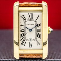 Cartier Tank Américaine Yellow gold 2603156mm Champagne Roman numerals
