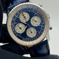 Breitling Navitimer pre-owned Blue Chronograph Leather