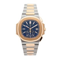 Patek Philippe Nautilus 5980/1AR-001 Very good Gold/Steel 44mm Automatic