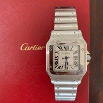Cartier Santos Galbée używany 32mm Biały Data Stal
