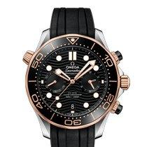Omega 210.22.44.51.01.001 Gold/Steel 2020 Seamaster Diver 300 M 44mm new