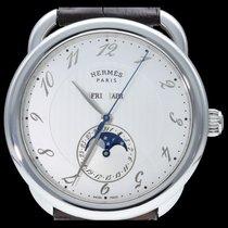 Hermès Arceau Stahl 43mm Weiß Arabisch