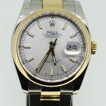 Rolex Datejust Oro/Acciaio 36mm Argento Senza numeri