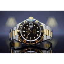 Rolex Submariner Date Золото/Cталь 40mm Чёрный